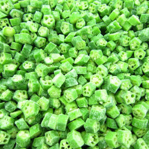 ISO & Brc IQF Certificated Okra Cut, Frozen Okra