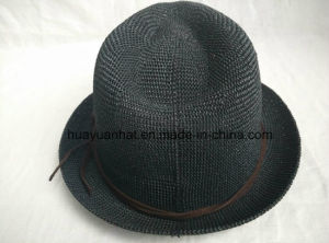80%Paper 20%Polyester Leisurely Style with Black Color Fedora Hats pictures & photos
