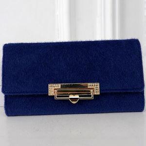 Dubai Fashion Women Cheap Bags Brand Fur Wallet (W6055) pictures & photos