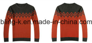 Pure Wool Crew Neck Business Sweater for Men