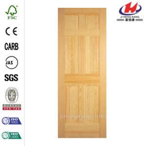 Woodgrain Solid Wood Pine Slab Door pictures & photos