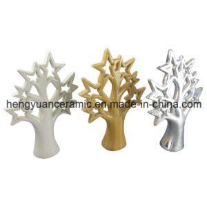 Color Glaze Tree Shaped Ceramic Craft for Home Decoration pictures & photos