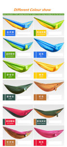 Carries Parachute Customized Camping Hammock with Carabiners