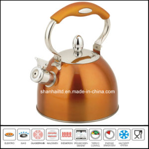 Color Stainless Steel Whistle Kettle Kitchenware pictures & photos