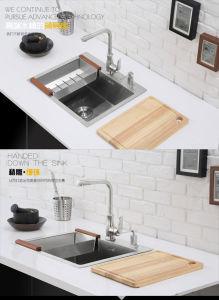 Kitchenware Stainless Steel Handmade Kitchen Single Bowl Sink (5648s) pictures & photos