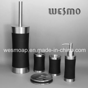 Rubber Oil Coating Stainless Steel Bath Set (WBS0509A) pictures & photos