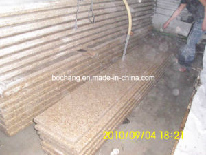 Polished G682 Yellow Granite Slab for Steps pictures & photos