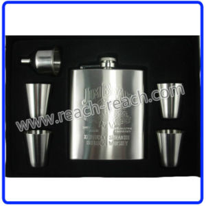 OEM Promotional Stainless Steel Hip Flask Sets (R-HF056) pictures & photos