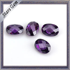 Jewelry Set Various Color Double Checker Cut Oval CZ Stone pictures & photos