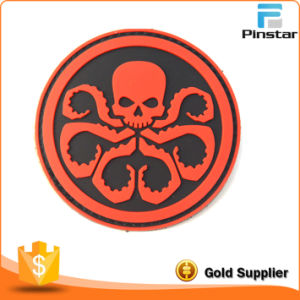 Custom 3D Red Octopus PVC Rubber Patch Factory pictures & photos