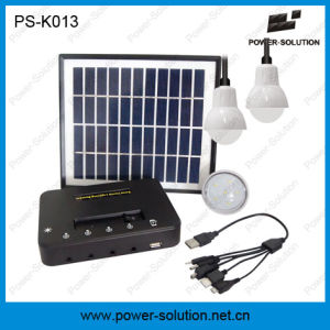 4W Solar Panel Kits with Three Lamps with Phone Charger pictures & photos