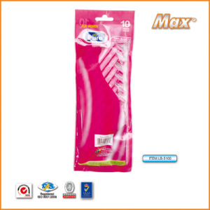 Plastic Platinum Coated Twin Stainless Steel Blade Disposable Razor (LB-5100) pictures & photos