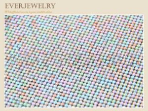 Colorful Dome Glass Hot Fix Rhinestone Mesh pictures & photos