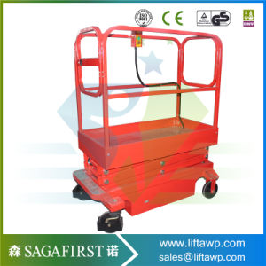 Lead Rail Hydraulic Scissor Lift Platform to Work in Orchard pictures & photos