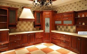 American Style Solid Wood Kitchen Cabinet (cherry 3) pictures & photos
