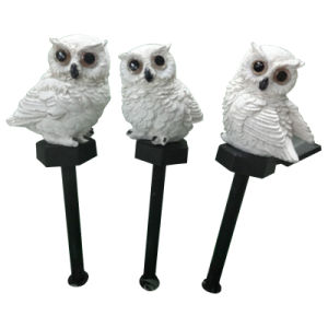 Polyresin Owl Solar Light for Garden pictures & photos