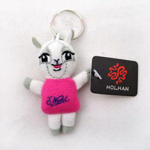 Plush Cartoon Dress Dog Key Chain pictures & photos