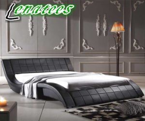 A044 Fancy Design Europe Leather Soft Bed pictures & photos