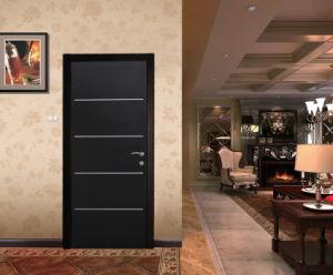 Israeli Aluminum Strips Inserted Interior Steel Door pictures & photos