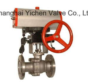 with Pneumatic Actuator + Limit Switch Box Ball Valve (Q641F) pictures & photos