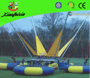 Four Person Bungee Trampoline with Banner pictures & photos