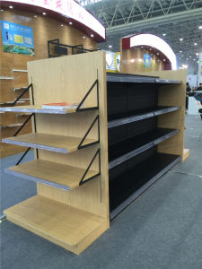 End Wood Heavy Duty Island Supermarket Shelf pictures & photos