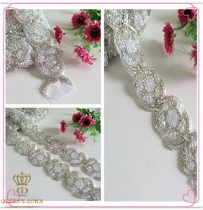 Adhesive Rhinestones Bridal Dress Trim Belt, Chain Drill pictures & photos