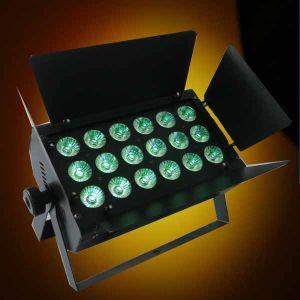 18X15W Rgbaw 5in1 DMX512 LED PAR64 with Barndoor