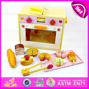 2015 Simulation Design Wooden Kitchen Set, DIY Wooden Microwave Oven Toy, High Quality Children Wooden Toy Microwave Oven (W10D014) pictures & photos
