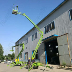Portable Aerial Working Mounted Hydraulic Trailer Boom Lift Table pictures & photos
