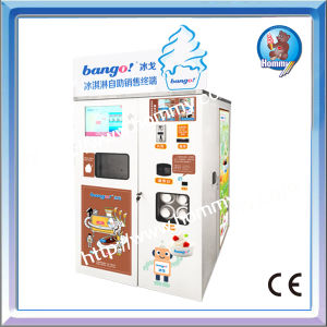 vending automatic ice cream machine with topping dispenser pictures & photos