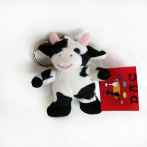 Plush Farm Cow Key Ring pictures & photos