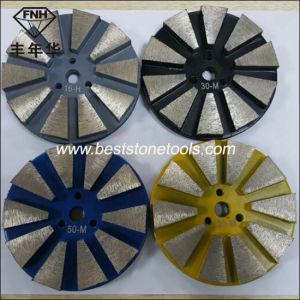 CD-15 Straight Edge Metal Floor Diamond Grinding Pads 10 Seg