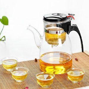 900ml Pyrex Teapot Borosilicate Glassware Customize Glass Teapot pictures & photos
