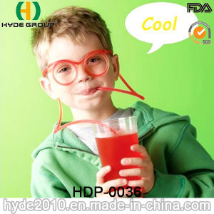 Colorful Plastic Long Glasses Crazy Straw (HDP-0036) pictures & photos