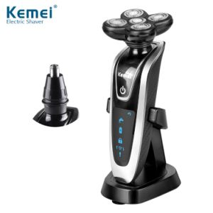 Kemei5885 New 2 in 1 Washable Electric Shaver & Nose Hair Trimmer 5D Floating Razor
