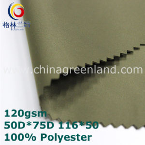 Twill Polyester Memory Fabric for Garment (GLLML350) pictures & photos