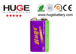 9v super heavy duty battery 6F22 pictures & photos