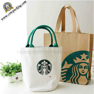 Durable Eco-Friendly Canvas Bag for Starbucks (HC00150702002) pictures & photos