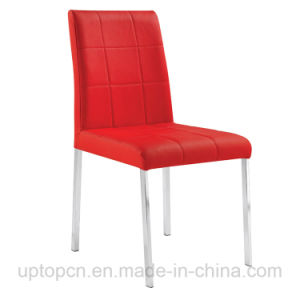 Bestsale Cafe Restaurant Stacking Red Leather Steel Dining Chair (SP-LC247) pictures & photos