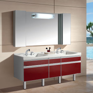2015 New Design High Quality Home Furniture PVC Storage Bathroom Cabinet (W180S)