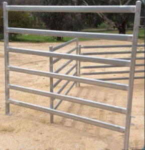 Ovaltube 6 Bars Portable Cattle Yard Panel/Used Livestock Panel pictures & photos