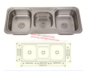 Sink, Kitchen Sink, Handmade Sink, Triple Bowl Stainless Steel Sink
