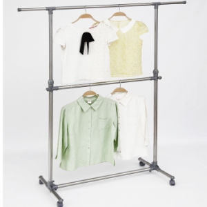 Stainless Steel Double Layer Telescopic Clothes Hanger pictures & photos