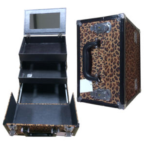 Wholesale Lepard Cosmetic Case Carry-on pictures & photos