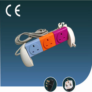 Colorful Rotatable Universal Electrical Socket Three Ways with USB pictures & photos