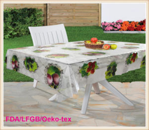 New Designs PVC Transparent Table Cloth /Oilcloth Factory pictures & photos