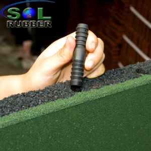 Ce En1177 Certificated Free Install Rubber Floor Mat pictures & photos