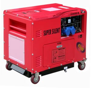 4.6kw Super Silent Diesel Generator Air-Cooled Red and Pink pictures & photos