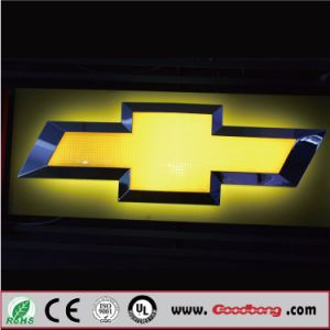 Custom Acrylic LED Car Logo for Chevrolet pictures & photos
